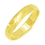 Гладкое обручальное кольцо 958 пробы